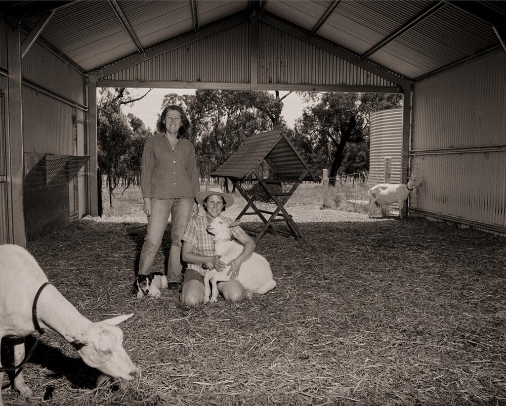 Carla Meurs and Ann-Marie Monda Holy Goat Cheese, Sutton Grange, Vic, SHED, Punctum Inc. 2004 Silver Gelatin Print